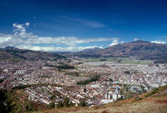Quito. Panorama view of Quito in Ecuador Stock Images