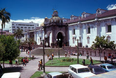 Quito. Cathedral and square in Quito ,Ecuador Royalty Free Stock Photo