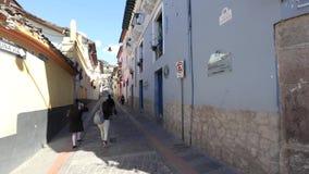 Quito abril de 2018 esto es calle de Ronda en Quito metrajes