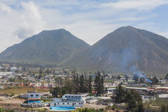 Village Mitad Del Mundo, South America Royalty Free Stock Images