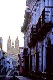 Quito & basilica Fotografia Stock