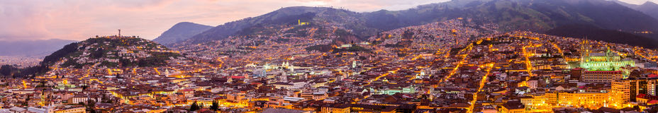 Free Quito By Night Panorama Royalty Free Stock Images - 61379389