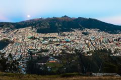 Quito, capital de Equador imagens de stock royalty free