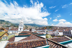 Quito Colonial Cityscape Stock Photography