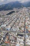 Quito, Cuero y Caicedo, Selva Alegre, rues de maisons de Las Images libres de droits