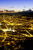 Quito downtown. Old Town of Quito as seen from atop El Panecillo (Little Bread Loaf Royalty Free Stock Photography