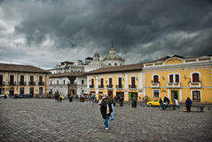 Plaza San Francisco in Quito,Ecuador royalty free stock image