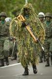 Quito, ECUADOR 24. Mai: Nationale Militärparade Lizenzfreie Stockbilder