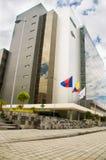 QUITO, ECUADOR 26 APRIL, 2017: De nieuwe mooie bouw van het Noorden gerechtelijke complex gevestigd in het centrum van Royalty-vrije Stock Afbeelding