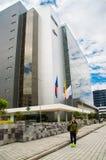 QUITO, ECUADOR 26 APRIL, 2017: De nieuwe mooie bouw van het Noorden gerechtelijke complex gevestigd in het centrum van Stock Foto's