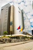 QUITO, ECUADOR 26 APRIL, 2017: De nieuwe mooie bouw van het Noorden gerechtelijke complex gevestigd in het centrum van Royalty-vrije Stock Foto