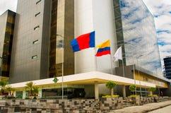 QUITO, ECUADOR 26 APRIL, 2017: De nieuwe mooie bouw van het Noorden gerechtelijke complex gevestigd in het centrum van Stock Fotografie