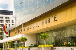 QUITO, ECUADOR 26 APRIL, 2017: De nieuwe mooie bouw van het Noorden gerechtelijke complex gevestigd in het centrum van Royalty-vrije Stock Fotografie