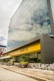 QUITO, ECUADOR 26 APRIL, 2017: De nieuwe mooie bouw van het Noorden gerechtelijke complex gevestigd in het centrum van Stock Foto
