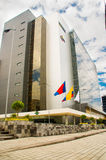 QUITO, ECUADOR- APRIL 26, 2017: New beautiful building of North judicial complex located in the center of the Royalty Free Stock Photo