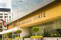 QUITO, ECUADOR- APRIL 26, 2017: New beautiful building of North judicial complex located in the center of the Royalty Free Stock Photography