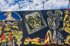 QUITO ECUADOR AUGUSTI 20 2017: Härliga vägg- grafitti på en vägg i den centrala Quito, Ecuador Royaltyfria Foton