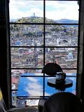 Historic city center of Quito, Ecuador. View at Panecillo hill stock photos