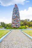 Quito, Ecuador - 28 de abril de 2015 monumento histórico de un maíz colorido enorme en el valle de Los Chillos Imágenes de archivo libres de regalías