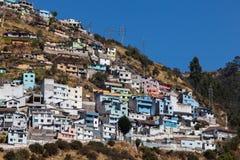 Quito, Ecuador. Houses on the El Panecillo hill in Quito, Ecuador Stock Photo