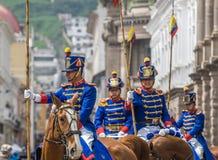 QUITO, ECUADOR - Januar, 14: Los Granaderos de Tarqui, das Guar Lizenzfreies Stockfoto