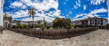 QUITO ECUADOR - JUNI 30, 2015: Panoramautsikt av 180 grader, t Arkivbilder