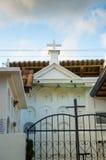 QUITO, ECUADOR 23. MAI 2017: Kommen Sie vom Kirchhof San Antonio de Pichincha herein Stockfotos