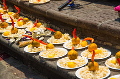 Free QUITO, ECUADOR- MAY 23, 2017: Oblation Food At Plaza Grande In Quito Royalty Free Stock Images - 96693229