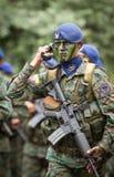Quito, ECUADOR- MAY 24: Krajowa militarna parada Zdjęcie Royalty Free