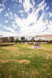 QUITO, ECUADOR - MAY 07, 2017: Beautiful view of el ejido park from at casa de la Cultura in the north of the city of Royalty Free Stock Photo