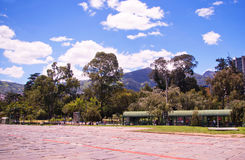 QUITO, ECUADOR - MAY 07, 2017: Beautiful view of el ejido park from at casa de la Cultura in the north of the city of Stock Photography