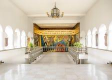 Quito, Ecuador - 2107: Mural en el palacio de Carondelet, el asiento de Guayasam n del gobierno de la República de Ecuador fotos de archivo libres de regalías