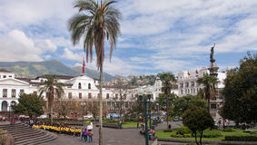 QUITO, ECUADOR - NOVEMBER 25, 2015: Independence Square in Quito Royalty Free Stock Image