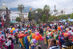 QUITO, ECUADOR - NOVEMBER 25, 2015: Parade on Independence Squar Stock Photos