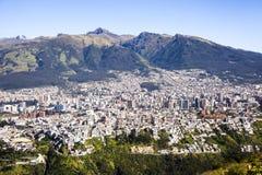 Quito, Ecuador. Panoramic view of Quito capital of Ecuador Royalty Free Stock Image