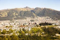 Quito, Ecuador. Panoramic view of Quito capital of Ecuador Stock Photo