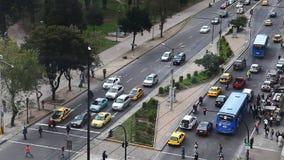 Quito, Ecuador street scene stock video footage
