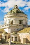 Quito Ecuador Sydamerika för LaCompania kupoler Arkivbilder