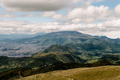 Quito, Ecuador. View from the top Royalty Free Stock Photography