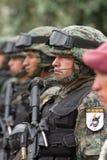 Quito, EKWADOR Krajowa militarna parada Zdjęcie Stock