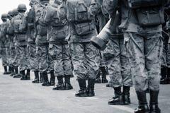 Quito, EKWADOR Krajowa militarna parada Zdjęcia Stock