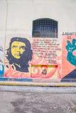 QUITO EKWADOR, LISTOPAD, - 23, 2016: Sztuka na zewnątrz przy starym więźniarskim Karnym Garcia Moreno w mieście Quito Obraz Stock