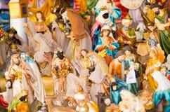 QUITO, EKWADOR 07 MAJ, 2017: Piękne małe postacie robić glina religijny cluture Obraz Royalty Free