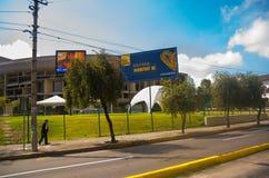 QUITO, EKWADOR -8 PAŹDZIERNIK, 2016: Casa De Los angeles Cultura, miejsce wydarzenia trzeci Narody Zjednoczone siedliska konferen Obraz Stock