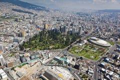 Quito, EL Ejido, casa da cultura equatoriano imagem de stock