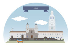 Quito, Equador ilustração do vetor