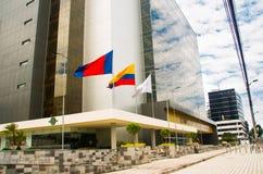 QUITO, EQUADOR 26 DE ABRIL DE 2017: O governo bonito novo da construção situado no centro da cidade magnífica de Quito Fotografia de Stock