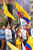 Quito, Equateur - 26 mars 2017 : Guillermo Lasso, candidat pour le mouvement de CREO, avec son binôme, Andres Paez Photographie stock libre de droits