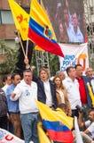 Quito, Equateur - 26 mars 2017 : Guillermo Lasso, candidat pour le mouvement de CREO, avec son binôme, Andres Paez Images libres de droits