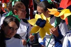 Quito Festivities' parade Stock Photos